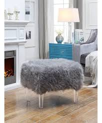 faux fur sofa slipcovers black ottoman throw furry chair slipcover pouf ottomans furniture protector target large size of velvet square leather tail