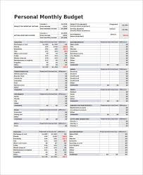 example of personal budget sample monthly budget 9 examples in pdf word excel
