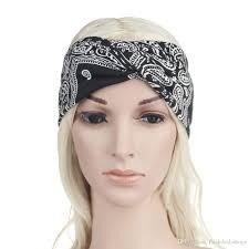 Designer Head Wraps 2019 Bohemian Cross Knot Hair Accessories For Woman Fabric Head Wrap Cross Printing Head Band Designer Turban Hair Bands From Flashdealsshops 1 55