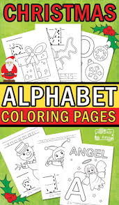 Christmas Alphabet Coloring Pages Itsy Bitsy Fun