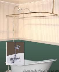 clawfoot tub wall mount shower
