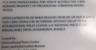 Pcoo Uson Malacanang Press Id Courier News After Saw Wrong Grammar Mocha Philippine Recalls