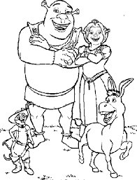 Small Picture Shrek Coloring Pages Coloring pages for kids