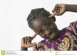 Gorgeous <b>African Black Girl Thinking</b> With Her Intelligent Head ...