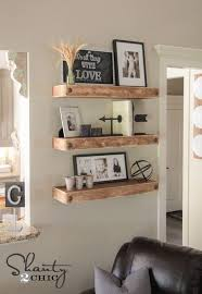 Small Picture Best 25 Rustic floating shelves ideas only on Pinterest
