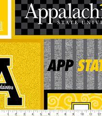 Appalachian State University Mountaineers Fleece Fabric College Patch