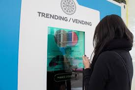 Vending Machine Chocolate Chip Cookies Fascinating Oreo's Trending Vending Machine Using 48D Technology Oreo Set Up A