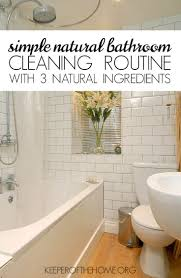 Simple Natural Bathroom Cleaning Routine