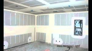 hanging drywall ceiling on