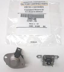 whirlpool kenmore dryer thermostat thermal fuse cutoff 280148 whirlpool kenmore dryer thermostat thermal fuse cutoff 280148 ap3874047 ps991443