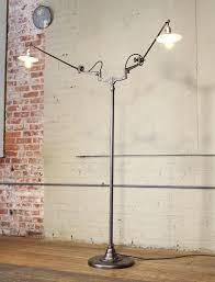 double arm floor lamp industrial original white articulating two arm floor lamp for two arm