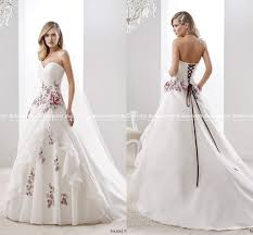 Red And White Wedding Dresses 2015
