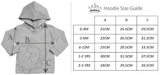 Sweater Size Chart For Babies Size Guide