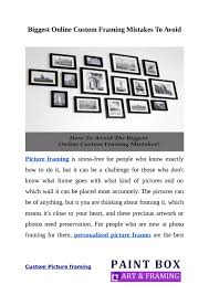 custom frames online. How To Evade Common Mistakes Of Custom Picture Framing ? By PaintboxArtandFraming - Issuu Frames Online E