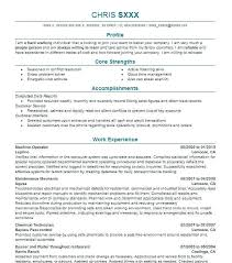 Awesome Collection Of Resume Chemical Process Operator Production