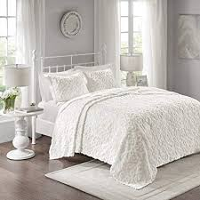 white chenille bedspread. Exellent White Madison Park Sabrina 3 Piece Cotton Chenille Bedspread Set White KingCal  King Inside L