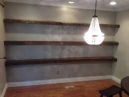 reclaimed white oak floating shelves  porterbarnwoodcom