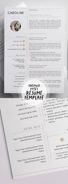 2018s Best Selling Resume Templates Design Graphic Design Junction