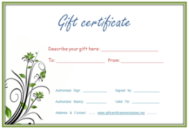 Free Customizable Gift Certificate Template Printed Gift Certificates Tirevi Fontanacountryinn Com