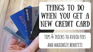 This small loss of points is often negated by the addition of more credit available to you, so it truly becomes a wash in many cases. Things To Do When You Get A New Credit Card Best Practices Tips To Help Manage Your New Card Youtube