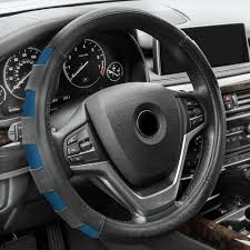 fh group genuine leather sport steering wheel cover
