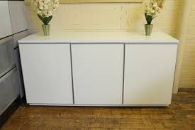 white office credenza. Nienkamper Vox Credenza In White Laminate With Metallic Trim Of Office Images H