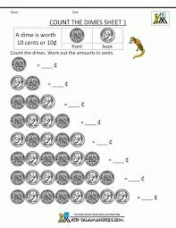 Kids : Money Worksheets For First Grade Count And Order Sheet ...