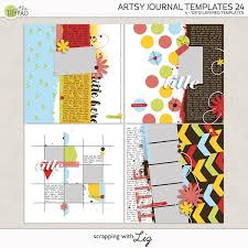 Journal Templates Scrapping With Liz Artsy Journal Templates 24