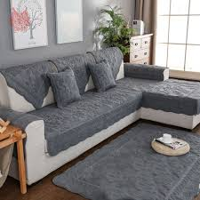 Living room chair covers Slipcovers Khaki Grey Floral Embroidery Quilted Sofa Cover Cotton Slipcovers For Living Room Furniture Covers Sectional Couch Covers Sp4917 Aliexpress Khaki Grey Floral Embroidery Quilted Sofa Cover Cotton Slipcovers