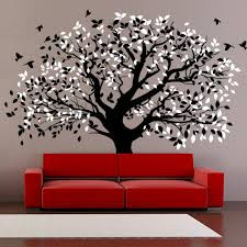 living room wall decals big tree by