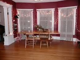 Glorious Oak Dining Table For 4 With White Homemade Dining Room Curtains As  Christmas Red Dining Rooms Interior Decorating Ideas