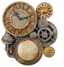 17 5 art deco industrial decorative sculpture wall clock kitchen