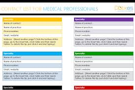 employee contact list template medical contact list template for word dotxes