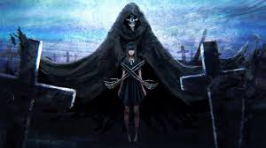 Search more misc wallpapers at related section or right panel. Desktop Wallpaper Girl And Reaper Dark Fantasy Hd Image Picture Background 154e7e