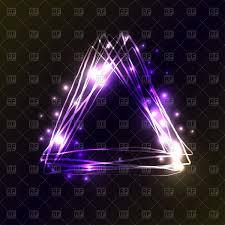 Violet Neon Triangles On Dark Black Background Stock Vector Image