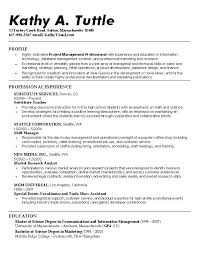 examples of perfect resumes