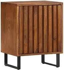 vidaXL <b>Solid Mango</b> Wood <b>Bedside Cabinet</b> Bedroom Nightstand ...