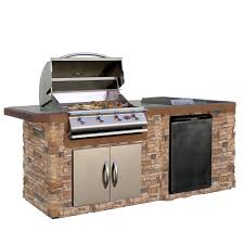 kenmore elite grill island. cultured stone grill island with tile top and 4-burner gas kenmore elite l