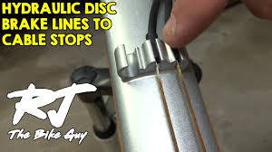 Hydraulic <b>Disc Brake Line</b> Guides To Cable Stops - YouTube
