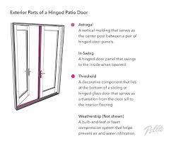 exterior parts of a hinged patio door