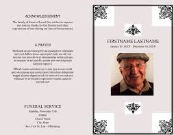 25 Free Funeral Program Templates Word Photoshop
