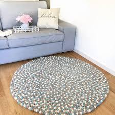 Carpet Colors For Living Room Mesmerizing Multi Color Felt Ball Rug Accent Living Room Carpet Pom Pom Etsy