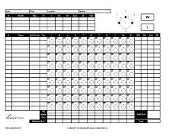 Baseball Game Scorecard Baseball Scoresheet Free Download