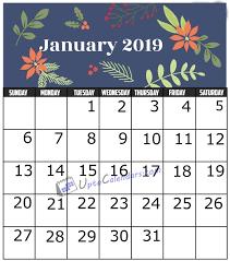 print a calendar 2019 january 2019 calendar printable template with holidays pdf word