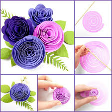 Paper Rosette Flower Diy Paper Flower Rolled Rosettes Rosette Flower Svg Files Diy