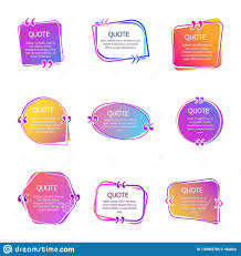 Quote Boxes With Text Set Of Color Quotes Bubble Templates Speech
