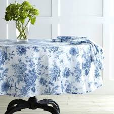 blue table cloths view in gallery classic blue and white round tablecloth from denby blue linen