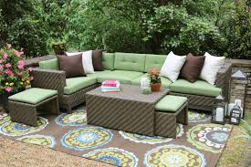 AE Outdoor Hampton 8 Piece Sectional Seating Group with Sunbrella