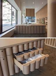 cardboard tube furniture. Modern Store Interior Design Ideas - Brooks + Scarpa Designed This Aesop Retail In Downtown Cardboard Tube Furniture
