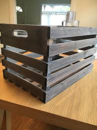 small gray wooden crate